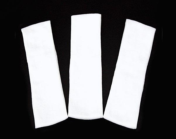 Фото Основы ,фурнитура для канзаши, Повязки Повязка  Белая  эластичная ,  трикотажная  шрина  5 см.