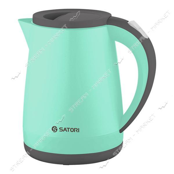 Электрочайник-термос Satori SSK-6117-BDW 1600Вт 1.2л