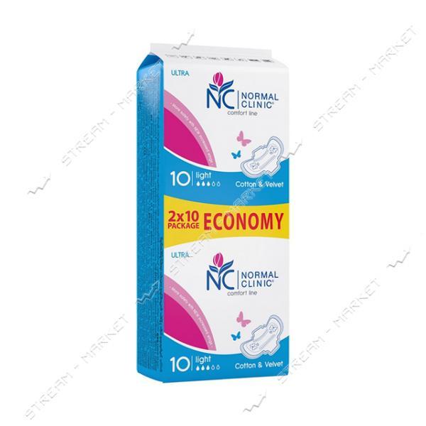 Гигиенические прокладки Normal Clinic Ultra Cotton & Velvet 3 капли 20шт