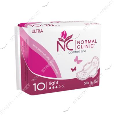 Гигиенические прокладки Normal Clinic Ultra Comfort Silk& Dry 3 капли 10шт