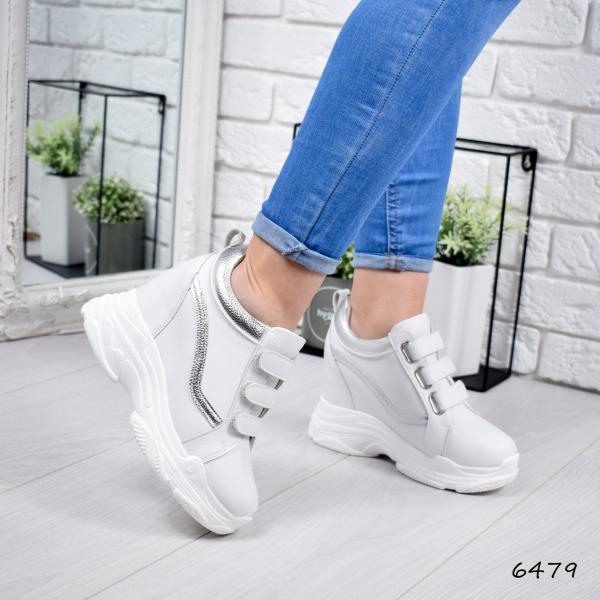 Кроссовки женские на платформе Villa белые