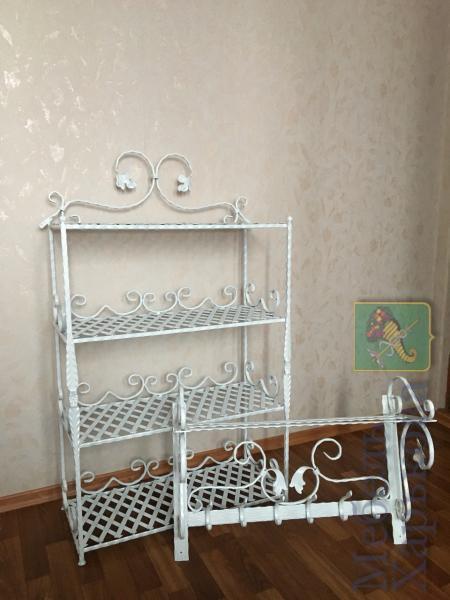 Комплект в прихожую этажерка с вешалкой - Прихожие в Харькове
