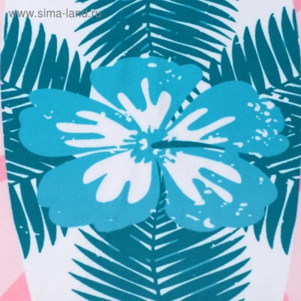 """Полотенце пляжное круглое Этель """"Серф"""", d120 см, 100 %  п/э"""
