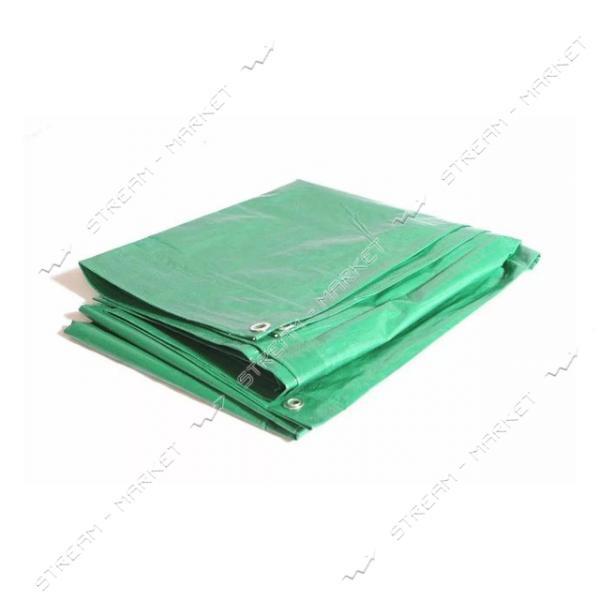 Тент водонепроницаемый 100 гр/м2 5х6м зеленый Китай