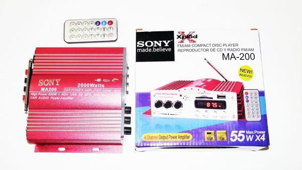Усилитель Sony MA-200 4*55W USB + MР3. (copy)