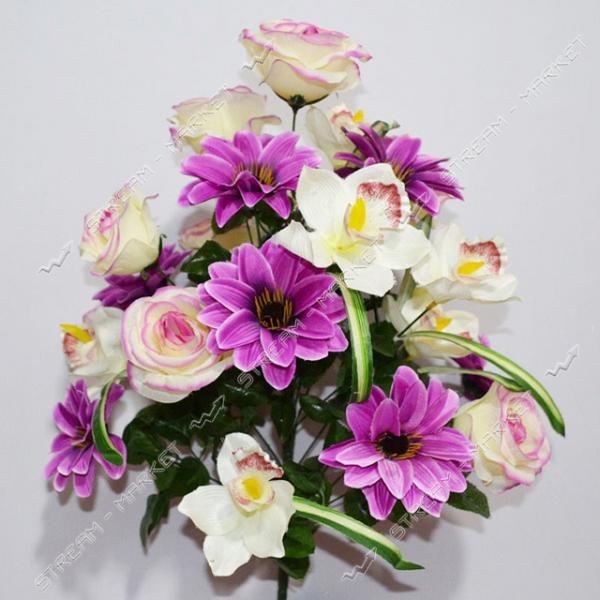 Букет искусственный Роза плюс орхидея 21 голов высота 640мм