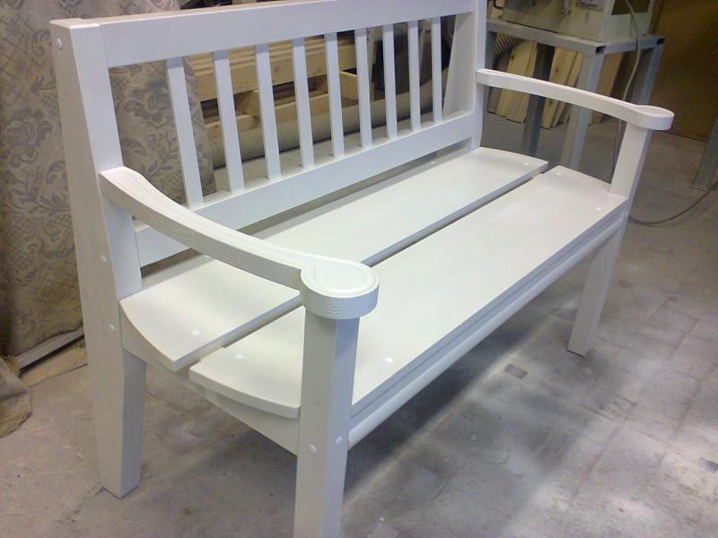 Скамья - Интерьерная белая 115 см