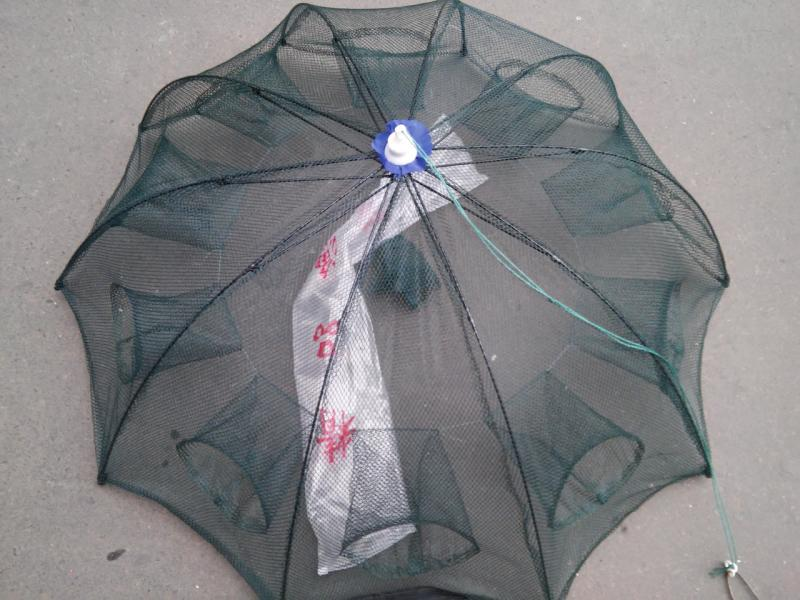 Раколовка Зонтик на 10 входов диаметр 1 метр
