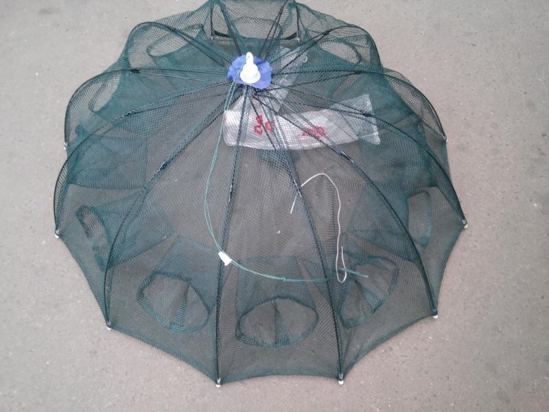 Раколовка Зонтик на 12 входов диаметр 1 метр