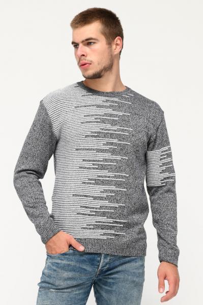 Мужской свитер TAIKO (31324-4) серый меланж