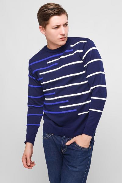 Мужской свитер TAIKO (23067-2) темно-синий