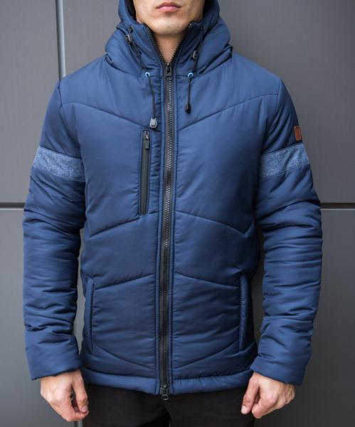 Мужская зимняя куртка Pobedov (Верный путь) темно-синяя +9°C (-25°С)