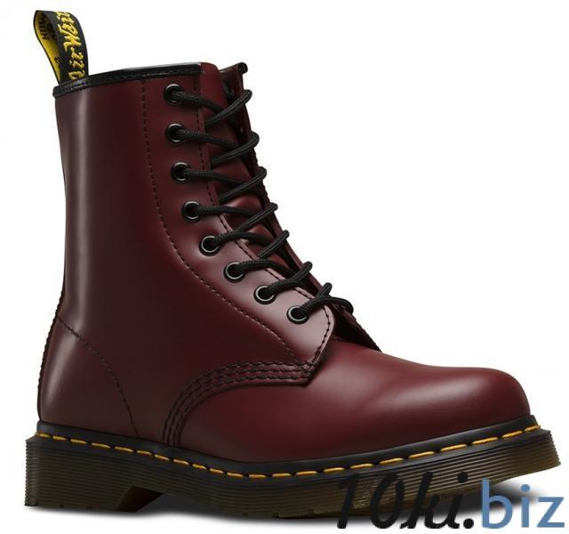 Женские ботинки Dr. Martens 1460 Smooth красные с искусственной кожей, цена фото купить в Киеве. Раздел Ботильоны, ботинки женские