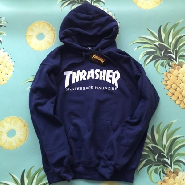Мужская кофта с капюшоном Thrasher (Трешер) темно-синий S