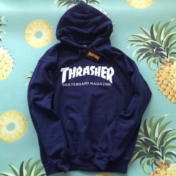 Мужская кофта с капюшоном Thrasher (Трешер) темно-синий L