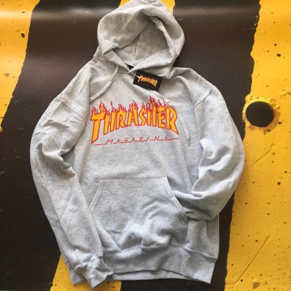 Мужская кофта с капюшоном Thrasher (Трешер) серый S