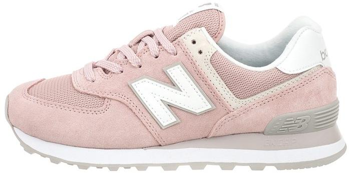 Женские кроссовки New Balance 574 (Нью Баланс) розовые