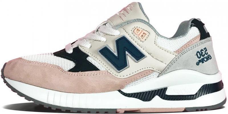 """Женские кроссовки New Balance 530 ENCAP """"Beige/Pink/Gray/White/Black"""" (Нью Баланс) разноцветные"""
