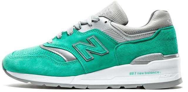 """Женские кроссовки New Balance 997 """"Mint/Gray/White"""" (Нью Баланс) мятные"""