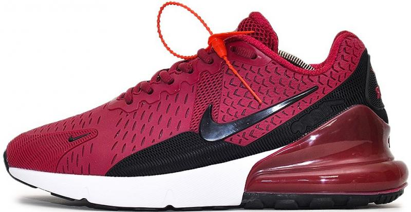 "Мужские кроссовки Nike Air Max 270 ""Purple/White/Black"" (Найк Аир Макс) пурпурные"