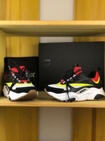 Фото Женские кроссовки Женские кроссовки Dior Homme B22 Calfskin Trainer (Диор) разноцветные