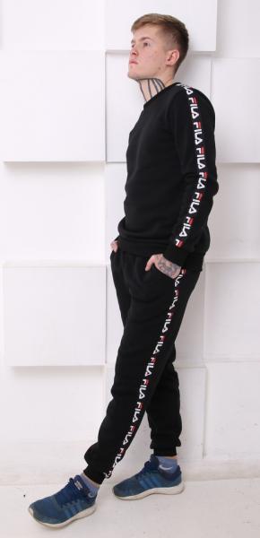Мужской спортивный костюм Fila (Фила) черный