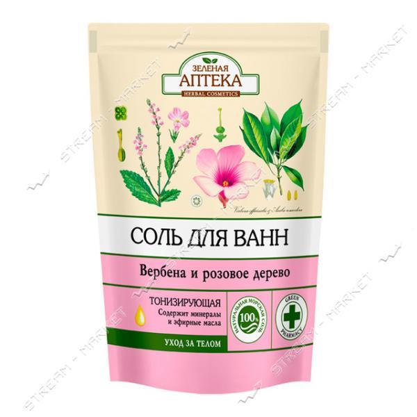 Соль для ванн Зеленая Аптека Вербена и розовое дерево 500г