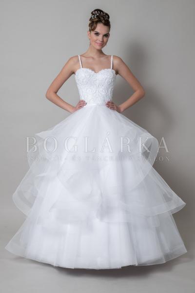 Пышное свадебное платье с воланами Мария