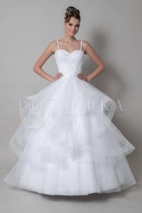 Фото Свадебные платья Пышное свадебное платье с воланами Мария