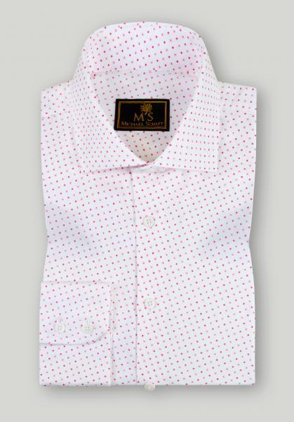 Рубашка мужская M'S Белая с контрастным принтом Classic Fit