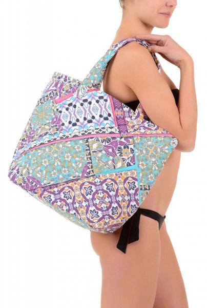Пляжная сумка с цветным принтом David DA7-007 One Size Цветной David DA7-007