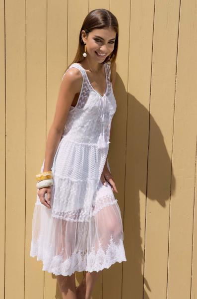 Белое пляжное платье для девушки Iconique IC7 015 W 44(M) Белый Iconique IC7 015 W