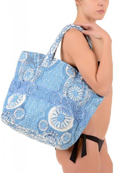Голубая пляжная сумка с кружевом Iconique IC7 065 One Size Голубой Iconique IC7 065