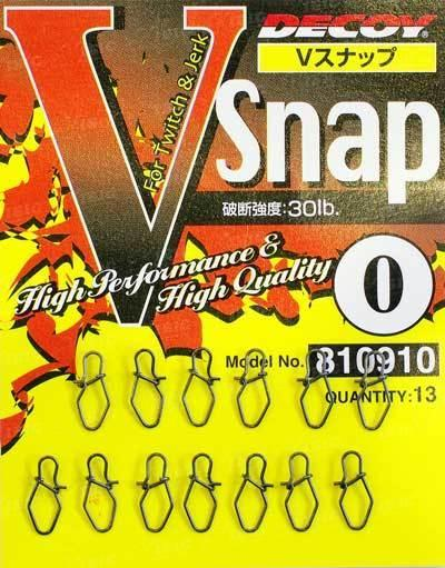 Застежка Decoy V Snap 1, 34lb, 13 шт