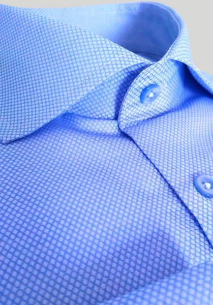 Фото Мужские рубашки Рубашка мужская Michael Schaft Голубая с фактурой