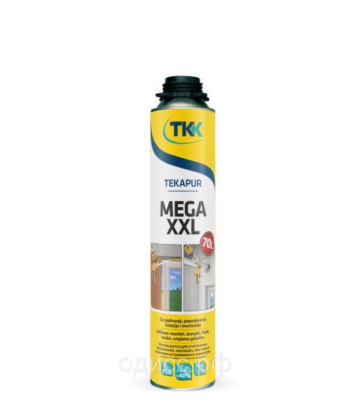 Пена монтажная Tekapur Mega XXL (70) профессиональная монтажная 900мл