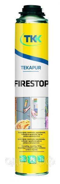 Пена монтажная Tekapur Firestop (gun) огнестойкая 750мл