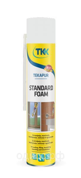 Пена монтажная Tekapur Standard (spray) бытовая монтажная, 750мл