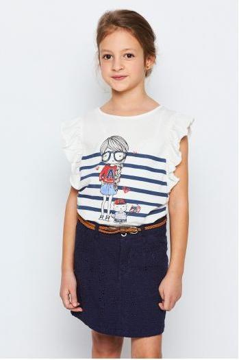 Брендовая футболка с девочкой 98-122 см