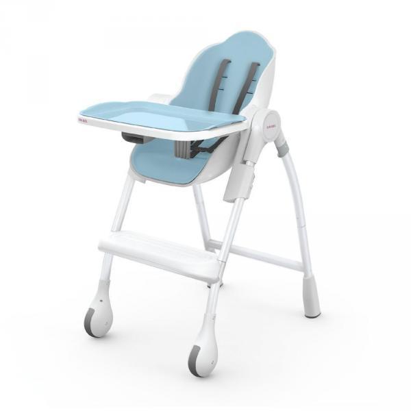 Детский универсальный стульчик для кормления Oribel Cocoon DELICIOUS - Маршмелоу Голубая Малина