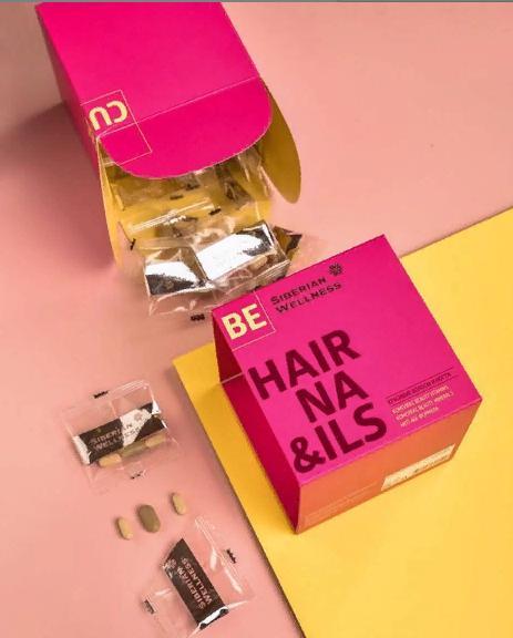 Комплекс витаминов и минералов для укрепления волос 3D Hair Nails Cube