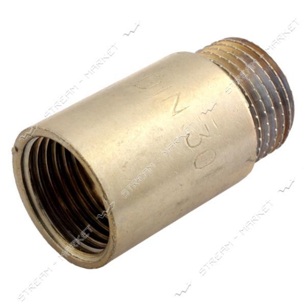 Удлинитель латунный 1/2' L=30мм никелированный N08790.2