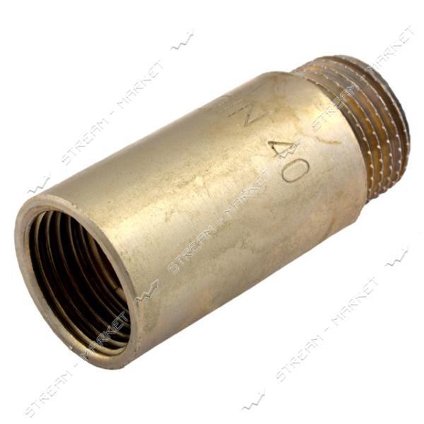 Удлинитель латунный 1/2' L=40мм никелированный N08790.3