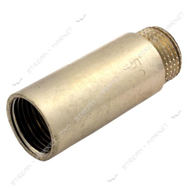 Удлинитель латунный 3/4' L=40мм никелированный N08790.ж