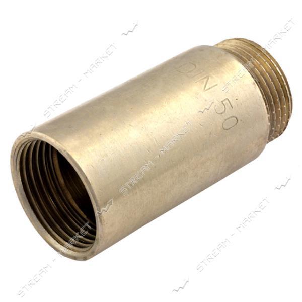 Удлинитель латунный 3/4' L=50мм никелированный N08790.и