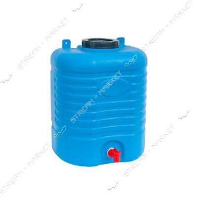 Рукомойник пластиковый боченок 20л синий ПластБак
