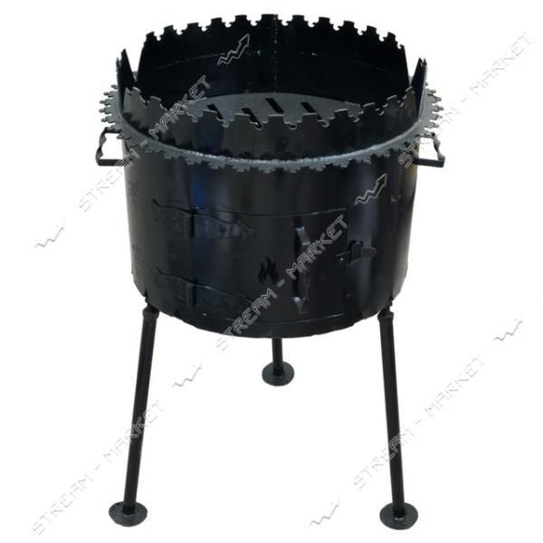 Печь под казан плюс мангал горячекатанный
