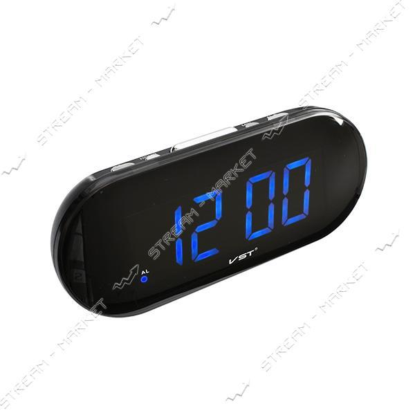 Часы сетевые 717-5 синие