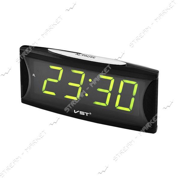 Часы сетевые 719-2 зеленые