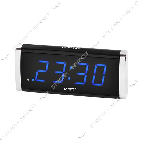 Часы сетевые 730-5 синие